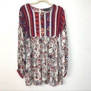 Anthropologie Sunday in Brooklyn Floral Tunic